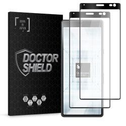 Folie Sticla Dr.Shield Sony Xperia 10 Set 2 Bucati Protectie Profesioanala Ecran 3D Full Cover- Negru