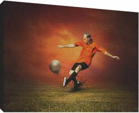 Fotbal 2 - Tablou canvas - 70x100 cm Tablouri