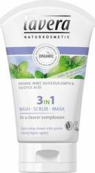 Gel de curatare Lavera scrub si masca 3 in 1 purificator - antiacnee 125 ml