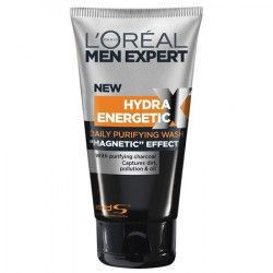 Gel de curatare LOreal Men Expert Hydra Energetic Black Charcoal Face Wash 150ml Magnetic Effect FMD1100 Masti, exfoliant, tonice