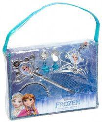 Gentuta Frozen cu 4 accesorii diadema bagheta cercei bratara Papusi figurine si accesorii papusi