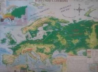 Harta fizica a Europei + Harta politica a Europei 1 20.000.0001 22.000.000 Harti