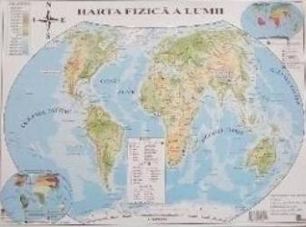 Harta politica a lumii + Harta fizica a lumii Harti
