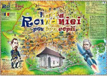Harta Romaniei pentru copii Harti