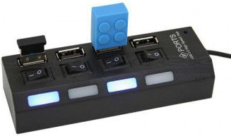 Hub 4 porturi USB cu BUTON ON/OFF Accesorii Diverse