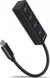 Hub USB Axagon HUE-M1C  4x USB3.2 Negru