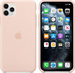 Husa Apple Silicon iPhone 11 Pro Max Pink Sand