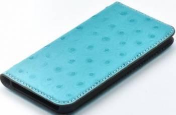 Husa Book Tellur iPhone 5 5S SE Piele Turcoaz Huse Telefoane