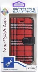 Husa Book Tellur iPhone 5 5S SE Rosu-Negru Huse Telefoane