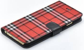 Husa Book Tellur iPhone 6 6S Rosu-Negru