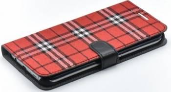 Husa Book Tellur Samsung S7 Edge Rosu-Negru