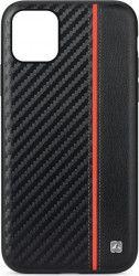 Husa Carbon Meleovo Apple iPhone 11 Pro Black  Red Huse Telefoane