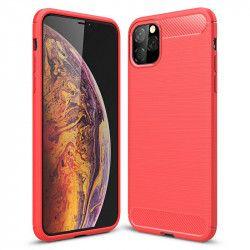 Husa de protectie BIBILEL cu insertii carbon pentru Iphone 11 Pro Max protectie spate bumper capac de protectie Rosu BBL1108 Huse Telefoane