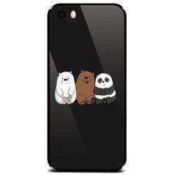 Husa din sticla securizata pentru Apple iPhone 5 Bears