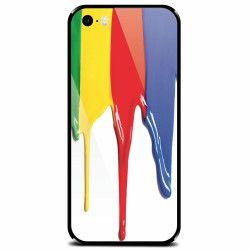 Husa din sticla securizata pentru Apple iPhone 5 Dripping Colorful Paint