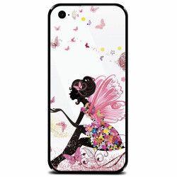 Husa din sticla securizata pentru Apple iPhone 5 Fairy 101