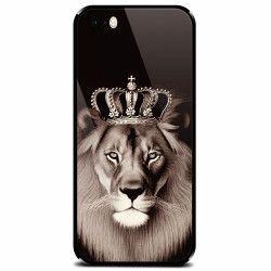 Husa din sticla securizata pentru Apple iPhone 5 Lion King