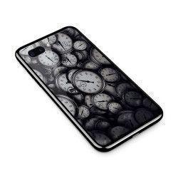 Husa din sticla securizata pentru Apple iPhone 8 Plus Clocks Bw