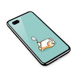 Husa din sticla securizata pentru Apple iPhone 8 Plus Cute Corgi