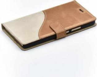 Husa Flip Tellur Huawei P9 Lite Piele Maro-Alb