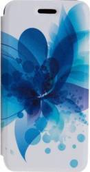 Husa Flip Tellur iPhone 6-6S Plus Albastru Floral
