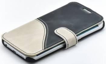 Husa Flip Tellur Samsung Galaxy S6 Edge G925 Piele Negru-Alb