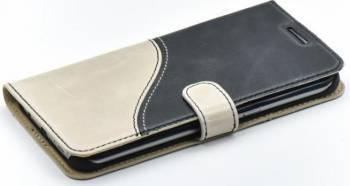 Husa Flip Tellur Samsung Galaxy S7 Edge G935F Piele Negru-Alb