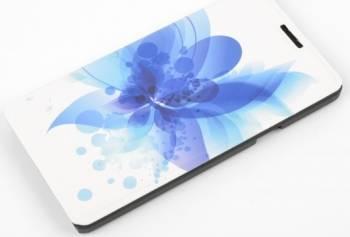 Husa Folio Tellur pentru Nokia Lumia 435 blue flower