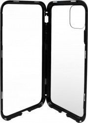 Husa Meleovo Magnetica Back Glass Apple iPhone 11 Pro Black Huse Telefoane