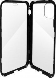 Husa Meleovo Magnetica Dual Glass Apple iPhone 11 Pro Black Huse Telefoane