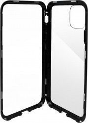 Husa Meleovo Magnetica Dual Glass Apple iPhone 11 Pro Max Black Huse Telefoane