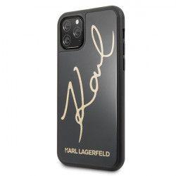 Husa Originala Premium Karl Lagerfeld iPhone 11 Pro Signature Glitter Negru Gold Huse Telefoane