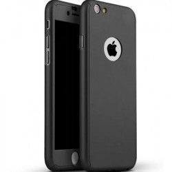 Husa pentru Apple iPhone 5  Apple iPhone 5S Apple iPhone 5SE Fullbody Black acoperire 360 grade cu folie de sticla gratis Huse Telefoane