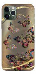 Husa Premium Upzz Print iPhone 11 Pro Max Model Golden Butterfly Huse Telefoane