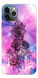 Husa Premium Upzz Print iPhone 11 Pro Max Model Neon Rose Huse Telefoane