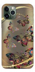 Husa Premium Upzz Print iPhone 11 Pro Model Golden Butterfly Huse Telefoane