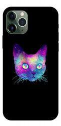 Husa Premium Upzz Print iPhone 11 Pro Model Neon Cat Huse Telefoane