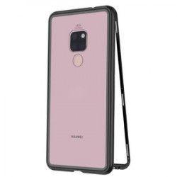 Husa protectie pentru Huawei Mate 20 PRO MyStyle Magnetica Negru cu spate de sticla securizata premium + folie de protectie ecran gratis Huse Telefoane