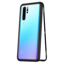 Husa protectie pentru Huawei P30 PRO Magnetica MyStyle Negru cu spate de sticla securizata premium + folie de protectie ecran gratis