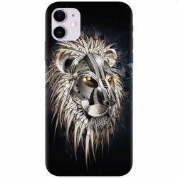 Husa silicon pentru Apple iPhone 11 Abstract Lion 001