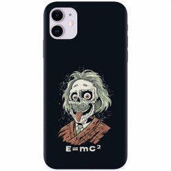 Husa silicon pentru Apple iPhone 11 Albert Einstein Caricature