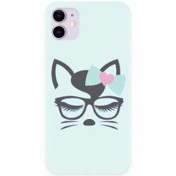 Husa silicon pentru Apple iPhone 11 Angel Cat