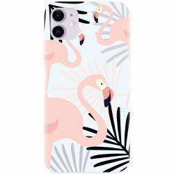 Husa silicon pentru Apple iPhone 11 Flamingo Huse Telefoane