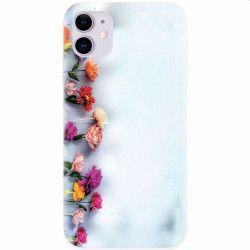 Husa silicon pentru Apple iPhone 11 Flowers Huse Telefoane