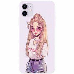 Husa silicon pentru Apple iPhone 11 Girl Look Huse Telefoane