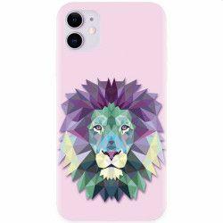 Husa silicon pentru Apple iPhone 11 Polygon Lion