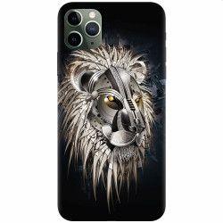 Husa silicon pentru Apple iPhone 11 Pro Abstract Lion 001 Huse Telefoane