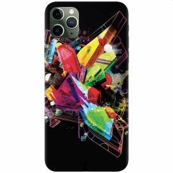 Husa silicon pentru Apple iPhone 11 Pro Max Abstract Shape Huse Telefoane