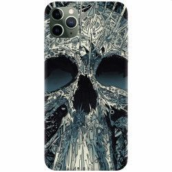 Husa silicon pentru Apple iPhone 11 Pro Abstract Skull Artwork Illustration Huse Telefoane