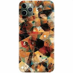 Husa silicon pentru Apple iPhone 11 Pro Abstract Triangles Connected Lines Huse Telefoane
